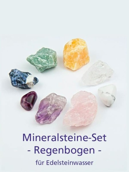 Mineralsteine-Set Regenbogen für Edelsteinwasser