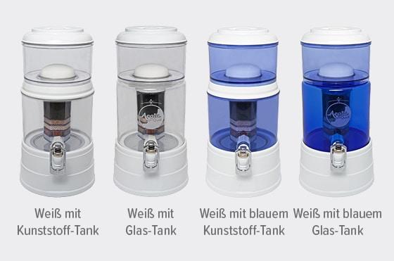Acalaquell Mini Wasserfilter Weiss Varianten