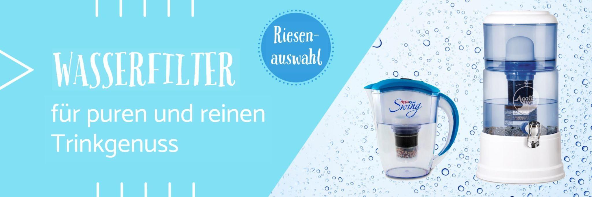 Happy Vita Banner Riesenauswahl Wasserfilter für puren und reinen Trinkgenuss
