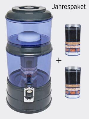Wasserfilter AcalaQuell Mini Anthrazit Blau Kunststoff Jahrespaket