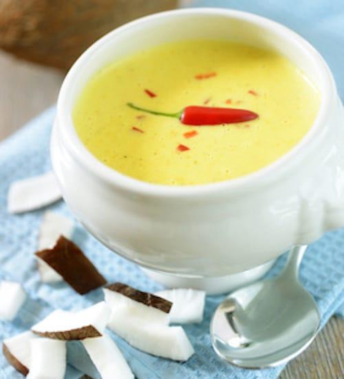 Rohkost Rezept: Curry-Kokos-Suppe - Für Eine Gesunde Ernährung