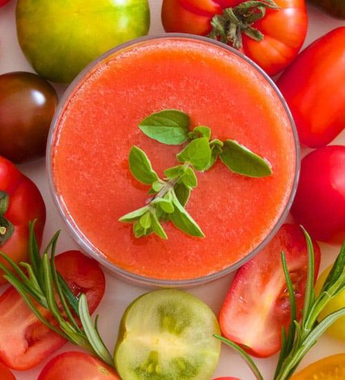 Rohkost Rezept: Tomaten-Gazpacho-Suppe - Für Eine Gesunde Ernährung
