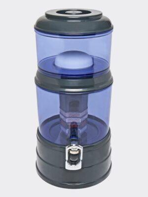 Wasserfilter AcalaQuell Mini Anthrazit Blau Kunststoff Vorne