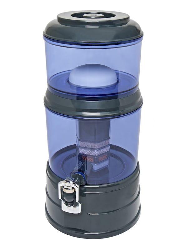 Wasserfilter AcalaQuell Mini Anthrazit Blau Kunststoff Schräg