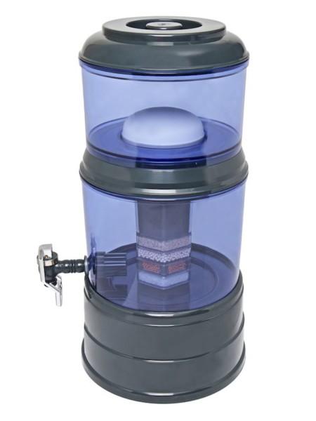 Wasserfilter AcalaQuell Mini Anthrazit Blau Kunststoff Seite