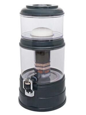 Wasserfilter AcalaQuell Mini Anthrazit Kristallklar Kunststoff Schräg