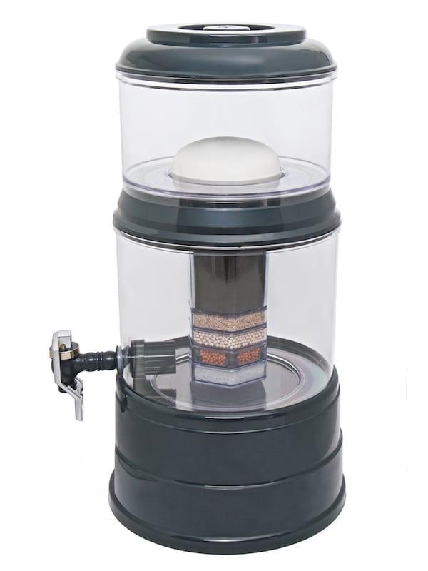 Wasserfilter AcalaQuell Mini Anthrazit Kristallklar Kunststoff Seite