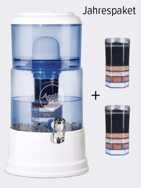Wasserfilter AcalaQuell Smart Weiss-Blau Jahrespaket