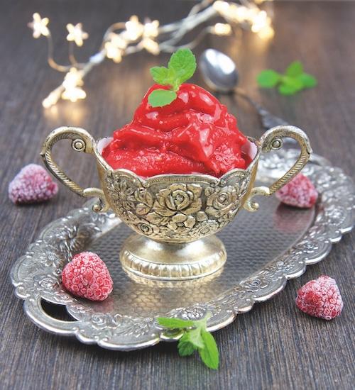 Erdbeer-Himbeer-Sorbet